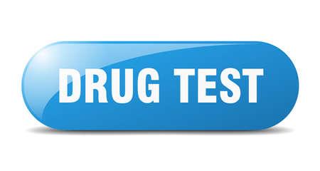 drug test button. drug test sign. key. push button. Illustration
