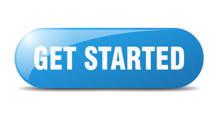 get started button. get started sign. key. push button.