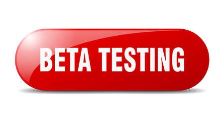 beta testing button. beta testing sign. key. push button. Vector Illustration