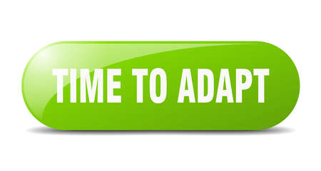 time to adapt button. time to adapt sign. key. push button. Illustration