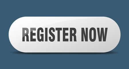 register now button. register now sign. key. push button.