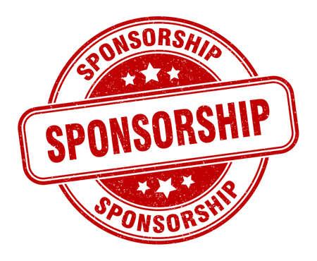 sponsorship stamp. sponsorship round grunge sign. label Vecteurs