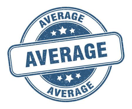 average stamp. average round grunge sign. label