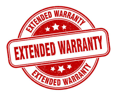 extended warranty stamp. extended warranty round grunge sign. label