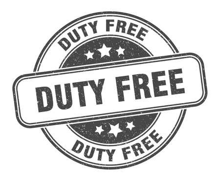 duty free stamp. duty free round grunge sign. label