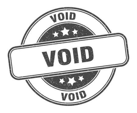 void stamp. void round grunge sign. label
