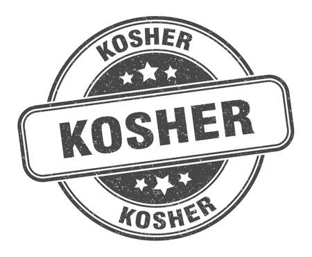 kosher stamp. kosher round grunge sign. label