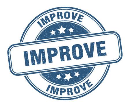 improve stamp. improve round grunge sign. label Vector Illustratie