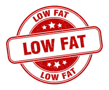 low fat stamp. low fat round grunge sign. label 矢量图像
