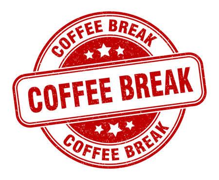 coffee break stamp. coffee break round grunge sign. label Vettoriali
