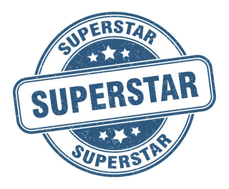 superstar stamp. superstar round grunge sign. label