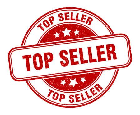 top seller stamp. top seller round grunge sign. label