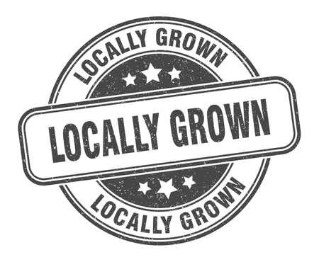 locally grown stamp. locally grown round grunge sign. label