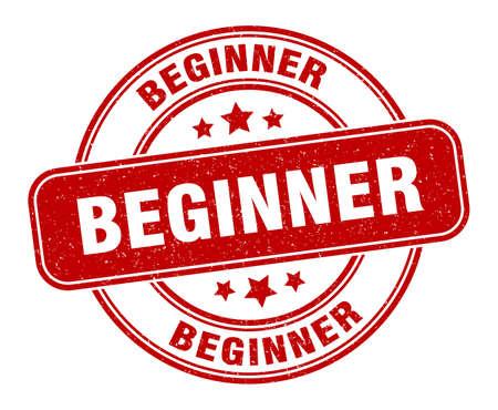 beginner stamp. beginner label. round grunge sign