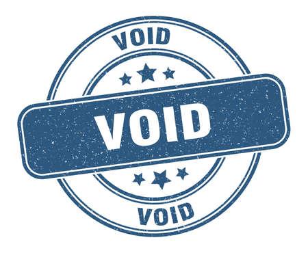 void stamp. void label. round grunge sign