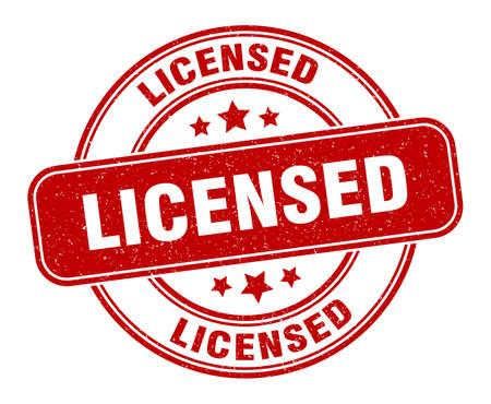 licensed stamp. licensed label. round grunge sign