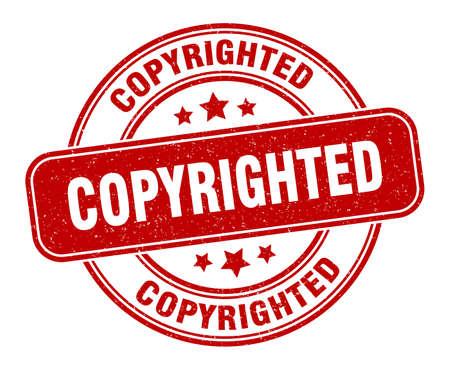 copyrighted stamp. copyrighted label. round grunge sign Vector Illustratie
