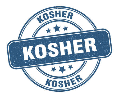 kosher stamp. kosher label. round grunge sign