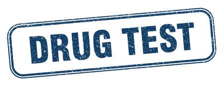drug test stamp. drug test square grunge sign. label Illustration