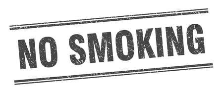 no smoking stamp. no smoking label. square grunge sign