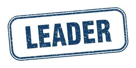 leader stamp. leader square grunge sign. label