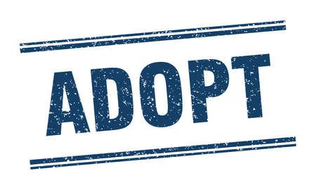 adopt stamp. adopt label. square grunge sign