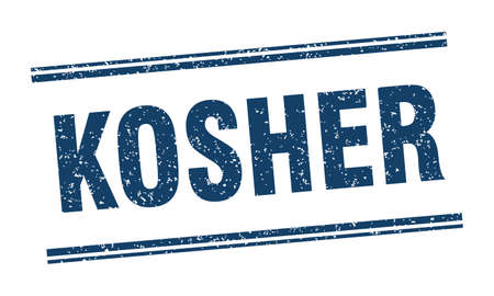 kosher stamp. kosher label. square grunge sign Illustration