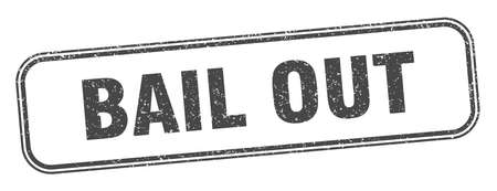 bail out stamp. bail out square grunge sign. label Vectores