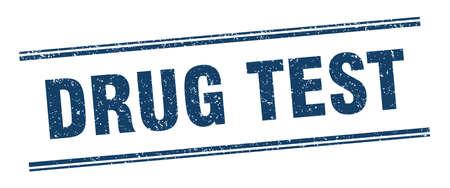 drug test stamp. drug test label. square grunge sign