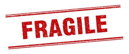 fragile stamp. fragile label. square grunge sign Ilustración de vector