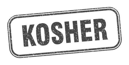 kosher stamp. kosher square grunge sign. label Illustration