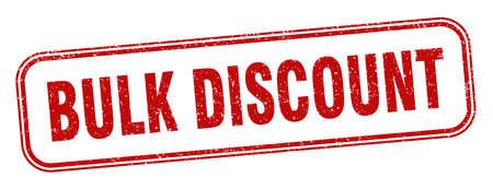 bulk discount stamp. bulk discount square grunge sign. label 矢量图像