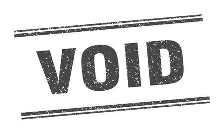 void stamp. void label. square grunge sign