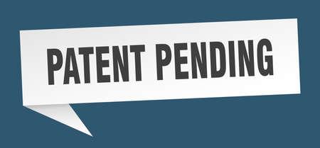patent pending banner. patent pending speech bubble. patent pending sign