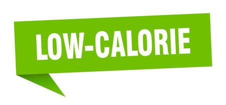 low-calorie banner. low-calorie speech bubble. low-calorie sign