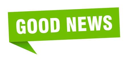 good news banner. good news speech bubble. good news sign