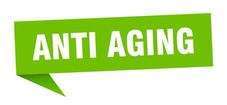 anti aging banner. anti aging speech bubble. anti aging sign
