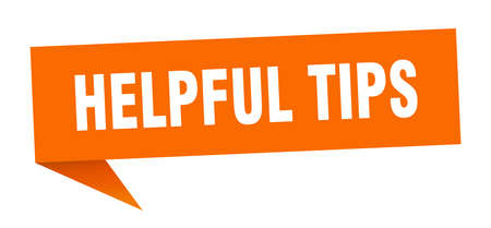 helpful tips banner. helpful tips speech bubble. helpful tips sign