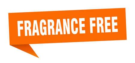 fragrance free banner. fragrance free speech bubble. fragrance free sign