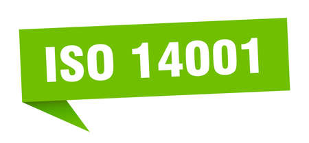 iso 14001 banner. iso 14001 speech bubble. iso 14001 sign