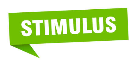 stimulus banner. stimulus speech bubble. stimulus sign