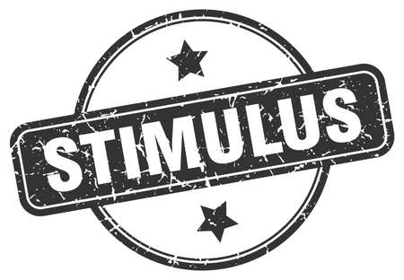 stimulus grunge stamp. stimulus round vintage stamp  イラスト・ベクター素材