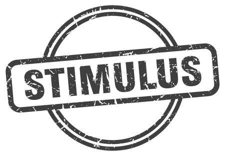 stimulus grunge stamp. stimulus round vintage stamp