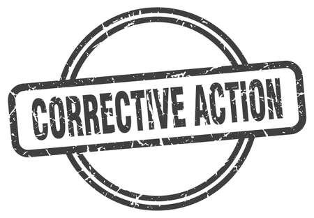 corrective action grunge stamp. corrective action round vintage stamp Vector Illustration