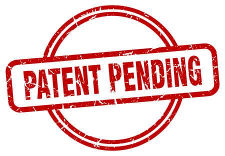 patent pending grunge stamp. patent pending round vintage stamp