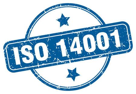 iso 14001 grunge stamp. iso 14001 round vintage stamp