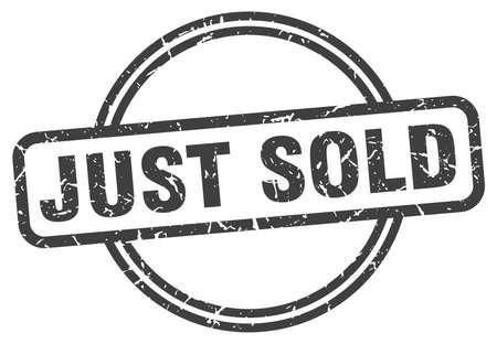 just sold grunge stamp. just sold round vintage stamp Vektorové ilustrace