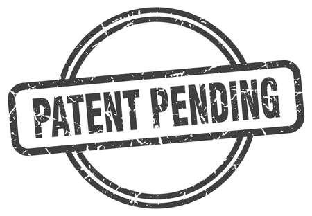 sello de grunge pendiente de patente. Patente pendiente sello vintage redondo Ilustración de vector