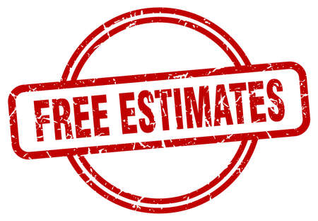 free estimates grunge stamp. free estimates round vintage stamp Vettoriali