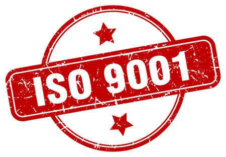 iso 9001 grunge stamp. iso 9001 round vintage stamp